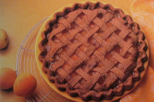 Latticed Apricot Peach Pie with Chocolate Pastry