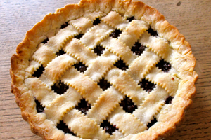 Lattice Topped Blueberry Pie