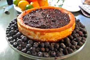 Blueberry Mascarpone Cheesecake