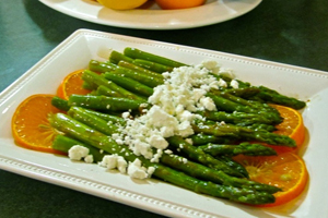 MARINATED ASPARAGUS WITH FETA CHEESE