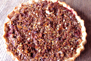 Streusel Topped Cherry Pie